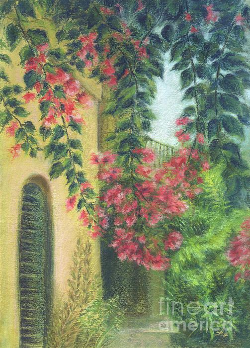 Alla Gorelik - Picturesque patio_Pastel painting