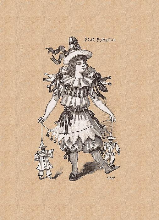 Pierrette With Puppets Digital Art