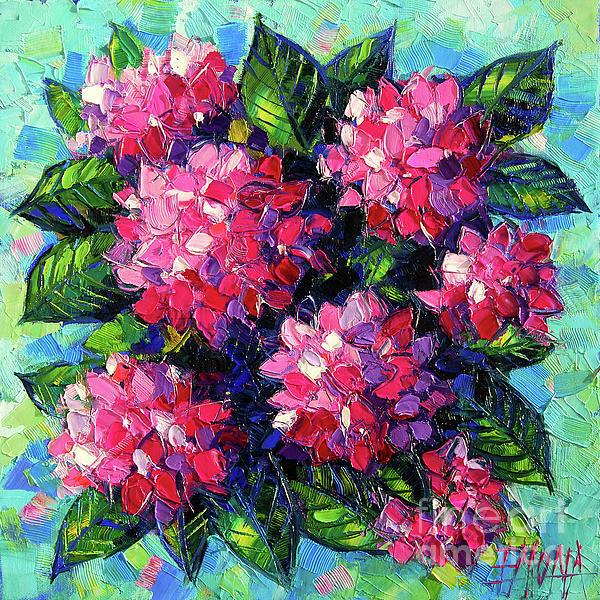 Mona Edulesco - Pink Hydrangeas