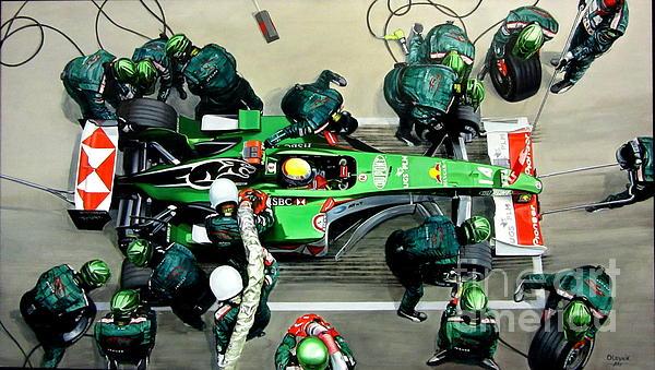 Artem Oleynik - Pit-stop Jaguar Racing Team. 2004