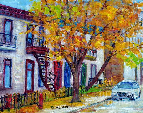 Grace Venditti - Plateau Mont Royal  Montreal Autumn City Street Scene Canadian Art Grace Venditti Painting