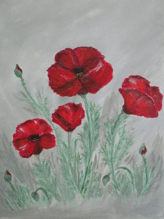 Sharyn Winters - Poppies In The Mist