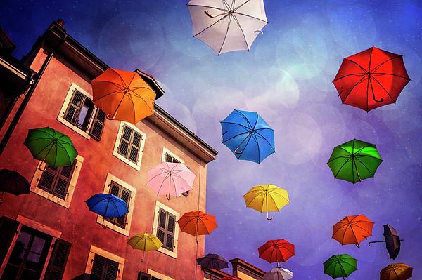 Carol Japp - Pretty Umbrellas in Carouge Geneva