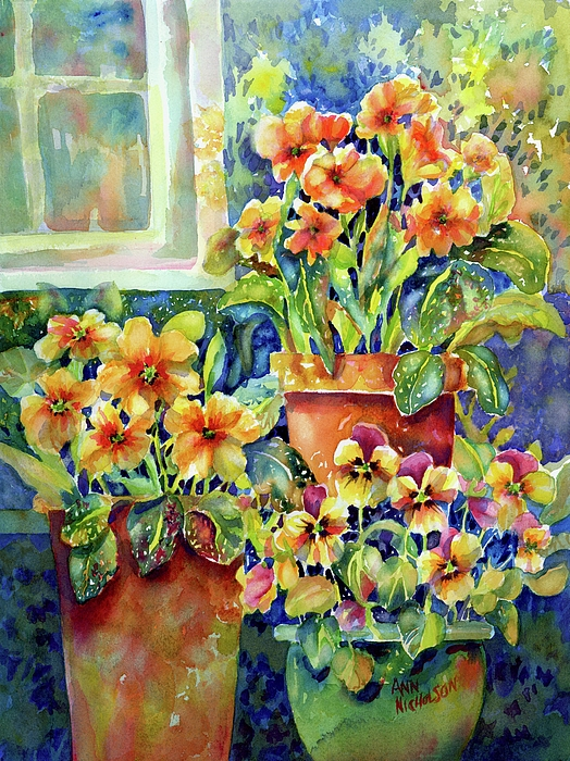 Ann Nicholson - Primroses and Pansies II