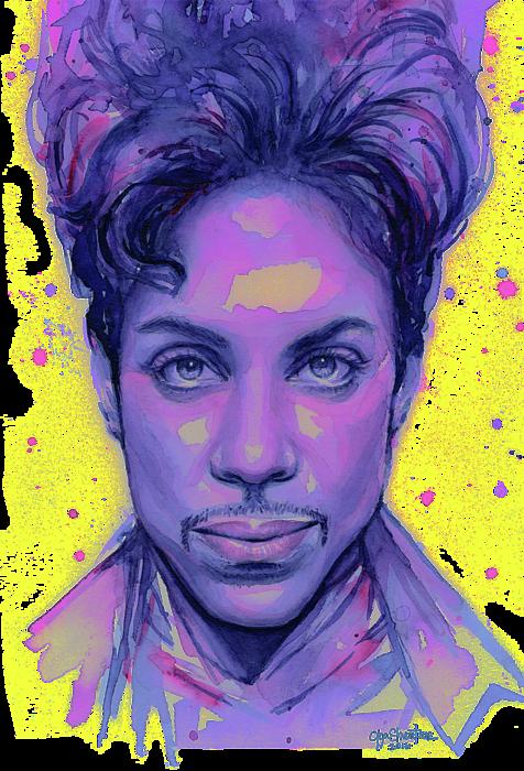 Prince Purple Watercolor Coffee Mug For Sale By Olga Shvartsur
