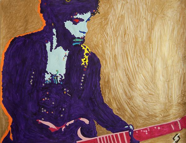 Stormm Bradshaw - Purple Prince Pink Guitar