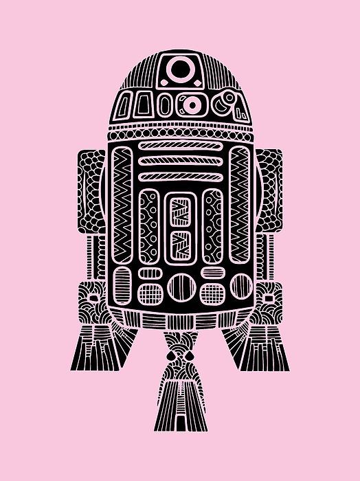 R2 D2 - Star Wars Art Mixed Media