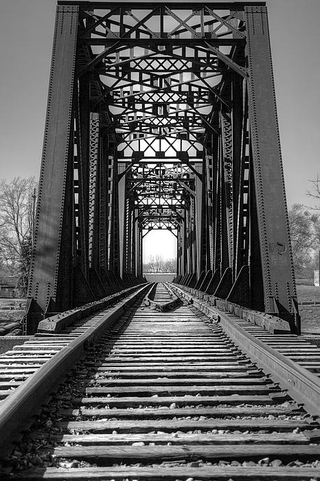 Sharon McConnell - Railroad Bridge Black And White