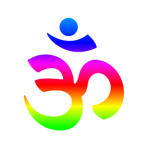 rainbow hinduism symbol tshirt for sale by frederick holiday
