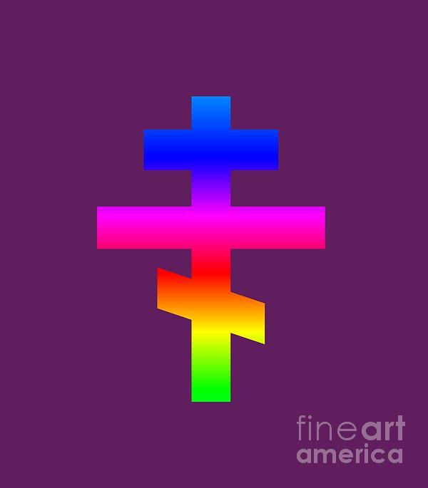 Rainbow Russian Orthodox Symbol Digital Art
