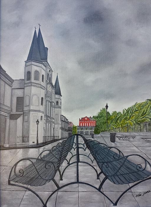 Judy Jones - Rainy Day in Jackson Square