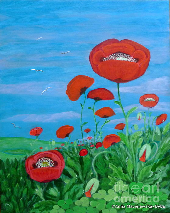 Anna Folkartanna Maciejewska-Dyba - Red Poppies