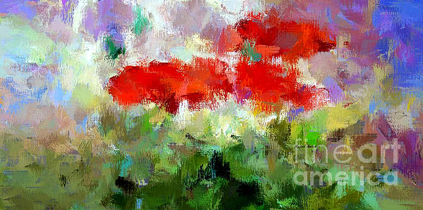 Rafael Salazar - Red Poppies in the Horizon