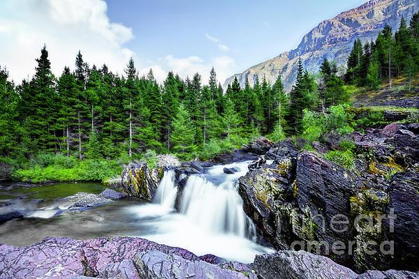 Kay Brewer - Red Rocks Falls, Glacier National Park