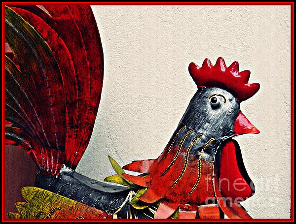 Sarah Loft - Red Rooster in Metal