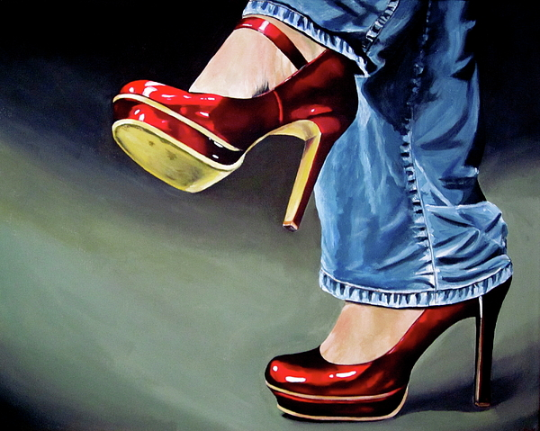 Lillian  Bell - Red shoes