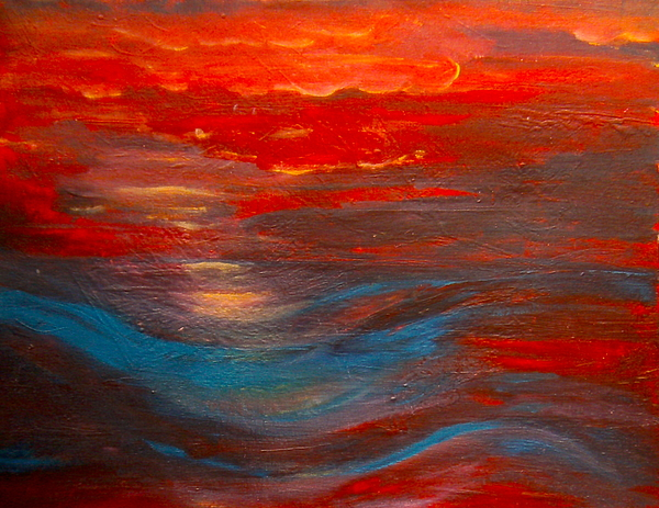 Nancy Rucker - Red Sunset Abstract