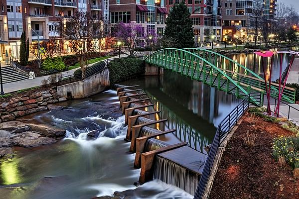 Carol R Montoya - Reedy River Greenville South Carolina Before Sunrise