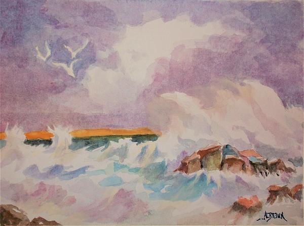 Al Brown - Restless Sea at Sunset