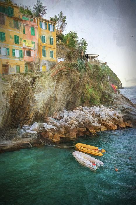 Joan Carroll - Riomaggiore Cinque Terre Italy Morning Painterly