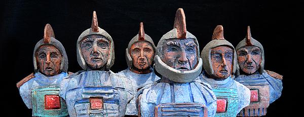 Roman Warriors - Bust Sculpture - Roemer - Romeinen - Antichi Romani - Romains - Romarere Photograph