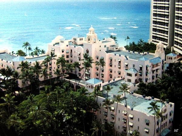 13afe8f4c Royal Hawaiian Hotel Beach Towel for Sale by Will Borden