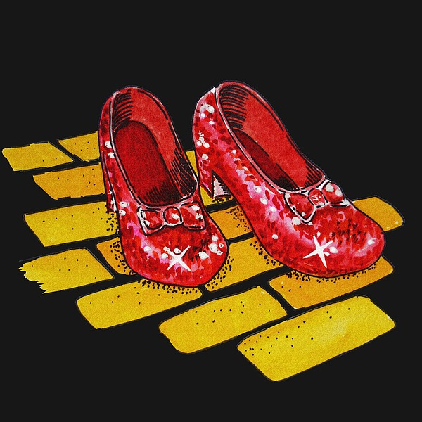 Ruby Slippers From Wizard Of Oz Painting