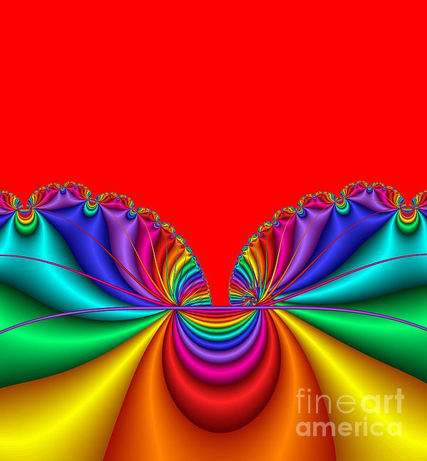 Ruffled Satin Digital Art