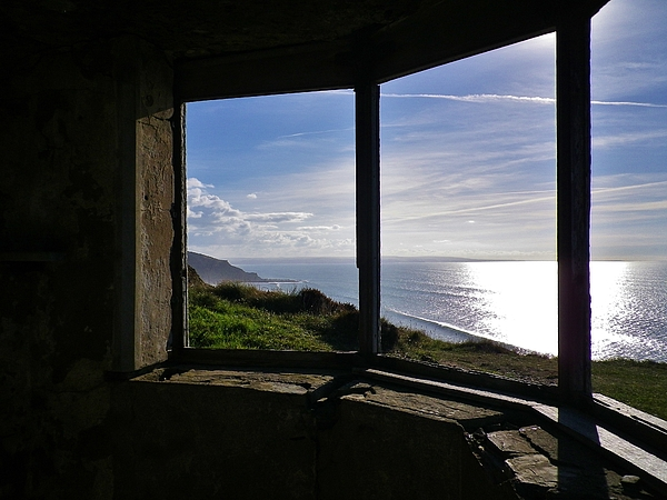 Richard Brookes - Ruined Coastguard Lookout Sharpnose Point Cornwall