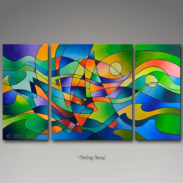 Sally Trace - Sailing Away, Triptych Print Set