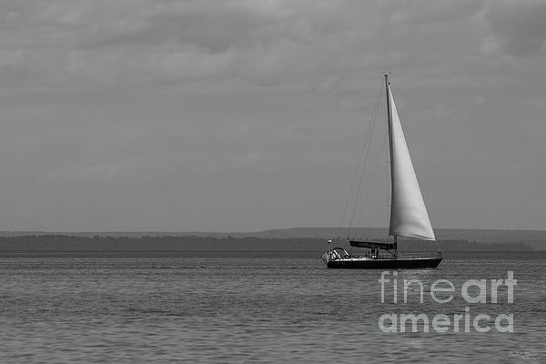 Jennifer White - Sailing Mackinac Grayscale
