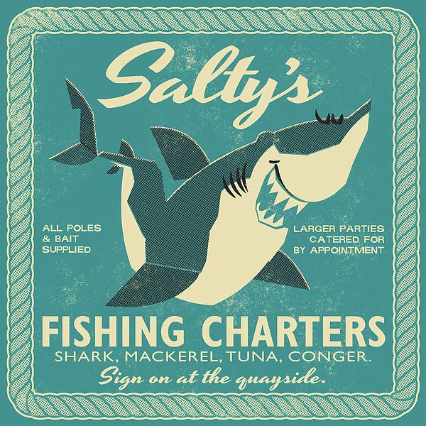 Saltys Fishing Charters Drawing