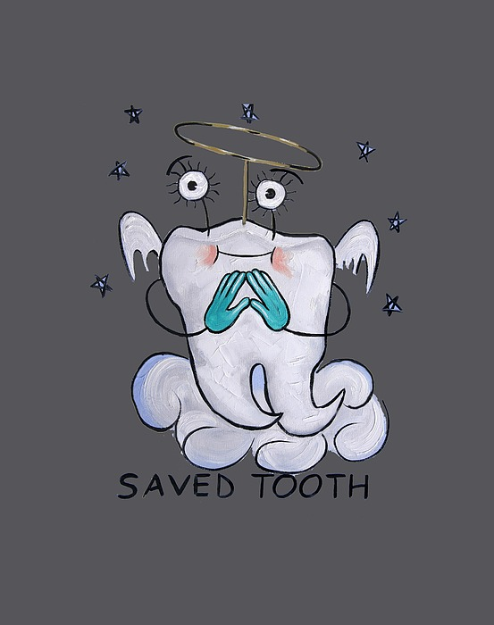 Saved Tooth T-shirt Painting