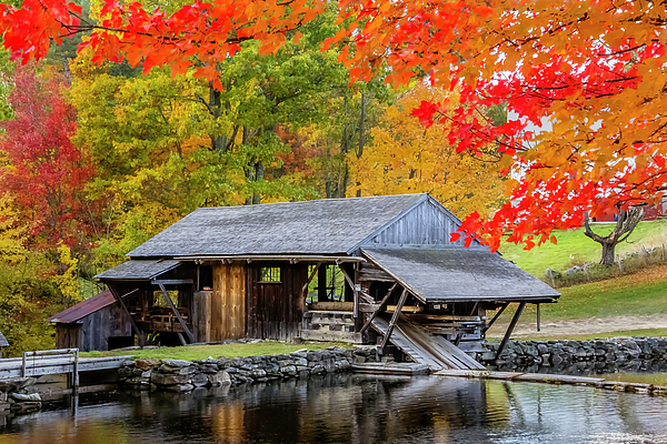 Betty Denise - Sawmill Reflection, Autumn in New Hampshire