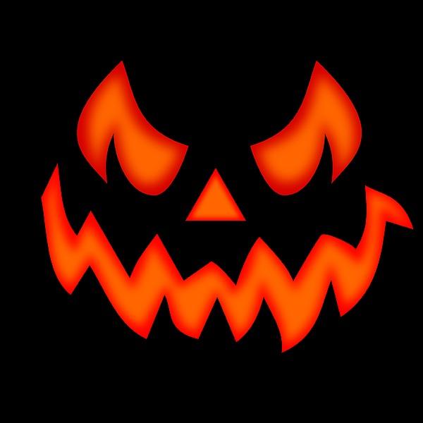 Scary Pumpkin Face Digital Art