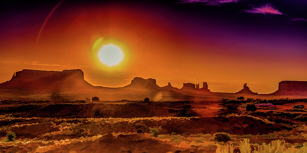 Lisa Lemmons-Powers - Searing Sunrise in Monument Valley