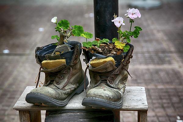 John Haldane - Shoes on a Montevideo Street