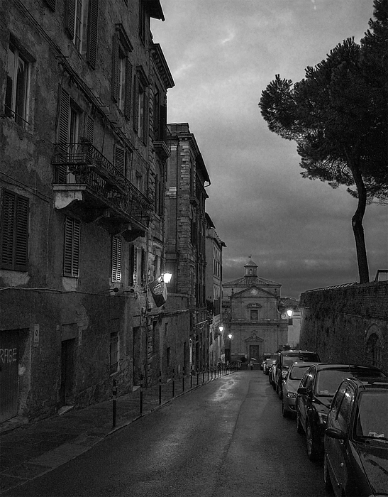 Darin Williams - Siena At Night BW