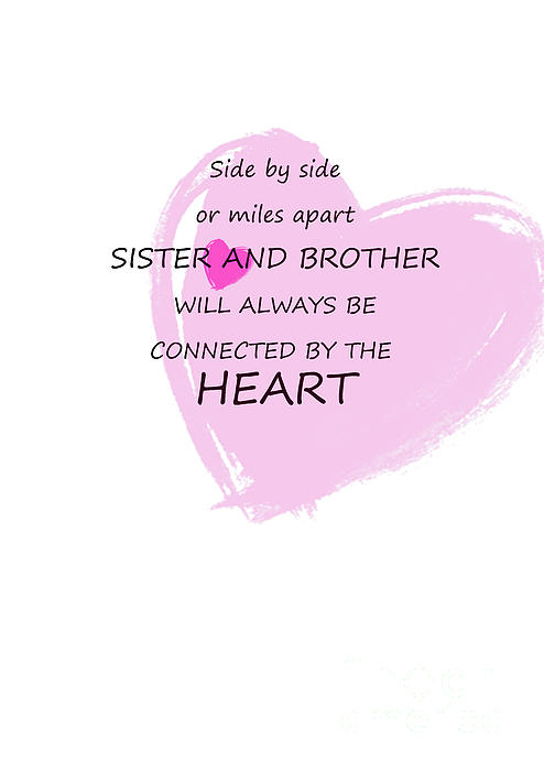 Sister And Brother Quotes 4 Greeting Card For Sale By Prar K Arts