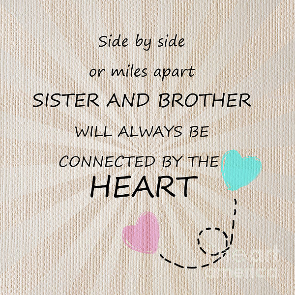 Sister And Brother Quotes 8 Greeting Card