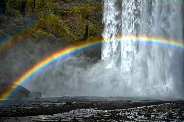 Stuart Litoff - Skogafoss Waterfall And Rainbow #2 - Iceland