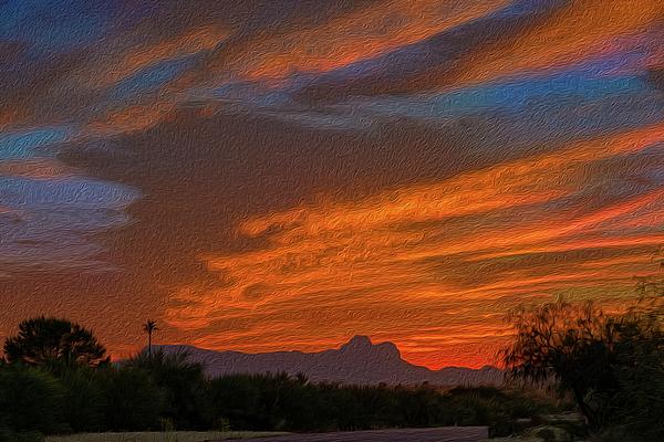 Sombrero Peaks Sunset Op10 Photograph