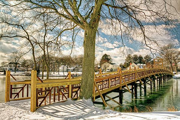 Geraldine Scull - Spring Lake New Jersey Bridge In Snow
