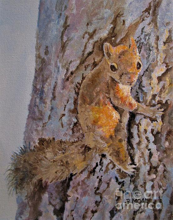 Barbara Moak - Squirrel Captures the Afternoon Sun