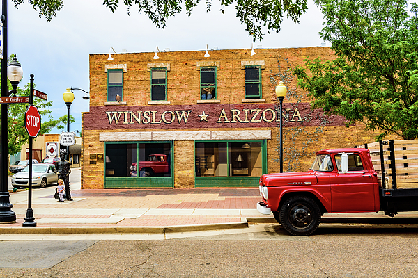 standing on the corner winslow arizona t shirt for sale by jon berghoff. Black Bedroom Furniture Sets. Home Design Ideas