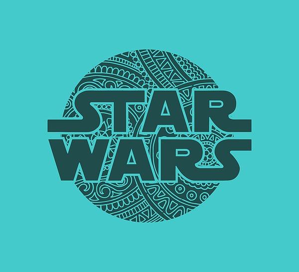 Star Wars Art - Logo - Blue 02 Mixed Media