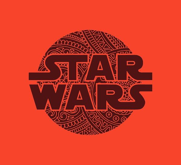 Star Wars Art - Logo - Red 02 Mixed Media