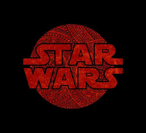 Star Wars Art - Logo - Red Mixed Media