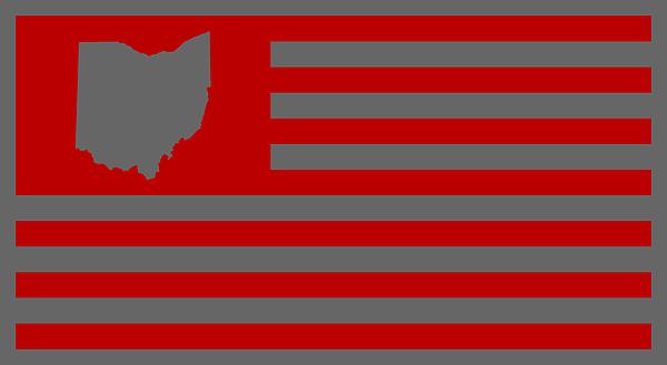 State Of Ohio - American Flag Digital Art