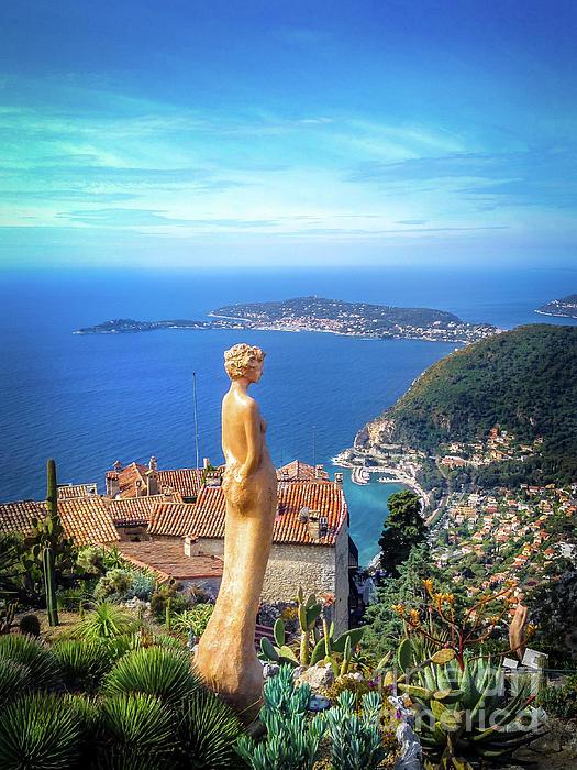 Michael Walsh - Statue On Eze Overlooking Mediterranean Sea